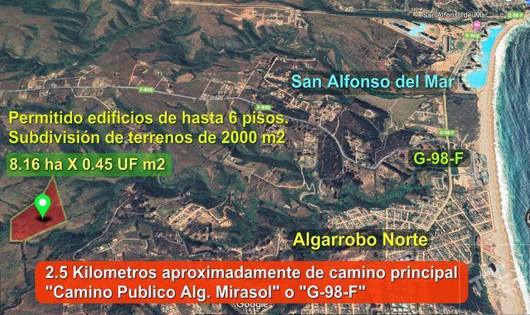 Venta Terreno Algarrobo 8.16 ha 0.45 Uf m2