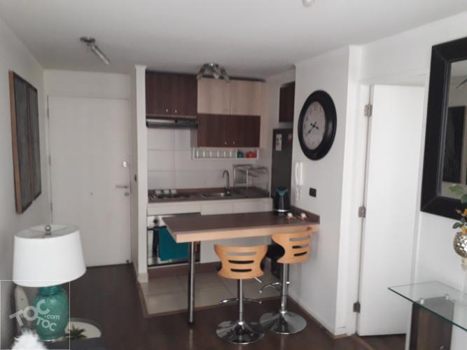 Metro Santa Ana, 1 dormitorio amoblado, baño en suite, excelente conectividad.