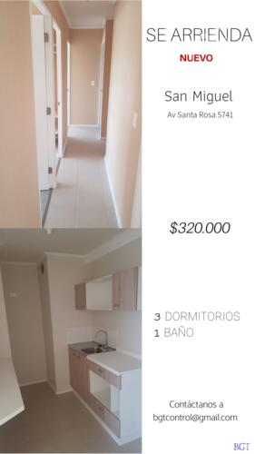 ARRIENDO | 320.000 3D + 1 *Nuevo* | San Miguel